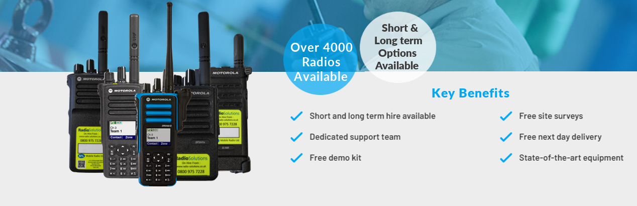 two way radio hire short & long term options available