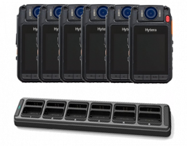 Hytera Body Worn Camera VM780 / Remote Speaker Microphone - Six Pack