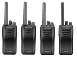 Kenwood TK-3501 Pro Talk Walkie Talkie Two Way Radio - Quad Pack