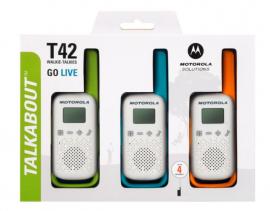 Motorola Walkie Talkie T42 - Triple Pack