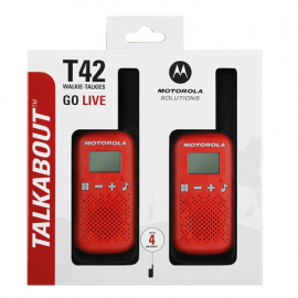 Motorola Walkie Talkie T42 Red - Twin Pack