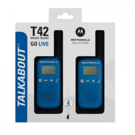 Motorola Walkie Talkie T42 Blue - Twin Pack