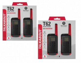 Motorola Walkie Talkie TLKR T62 Radio Quad Pack (Red)