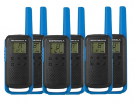 Motorola Walkie Talkie TLKR T62 Radio Six Pack