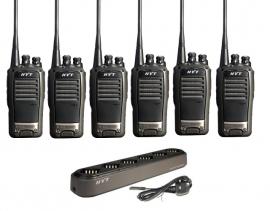 Hytera TC-620 Walkie Talkie Two Way Radio Six Pack
